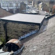image of new rubber flat roof at croft myl Halifax