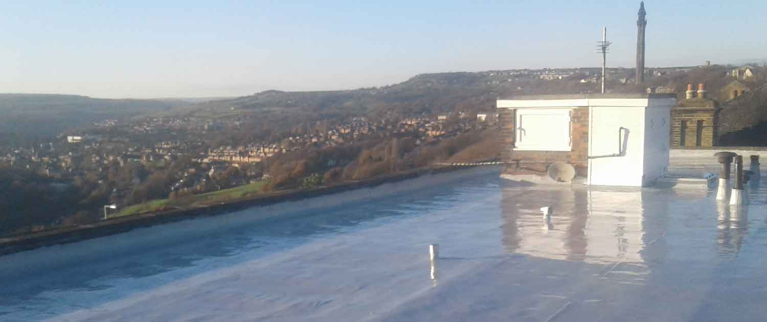 New Commercial Rubber Flat Roof in Halifax by Crown Building and Roofing Services
