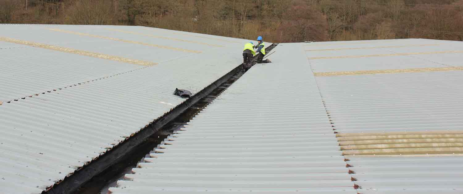 Large new commercial roof in Halifax by Crown Building and Roofing Services