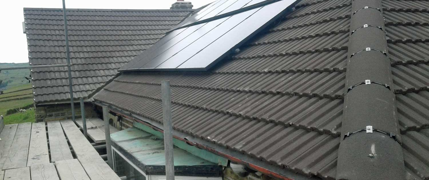 Image showing close up of new roof tiles Halifax by Crown Build