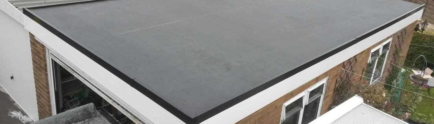 rubber flat roofing installation services on garage roof Halifax, West Yorkshire