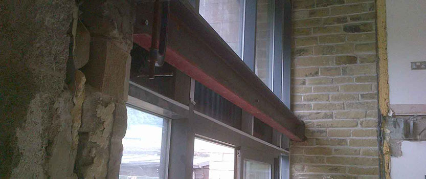 Image of Steel Beam as part of building maintenance work