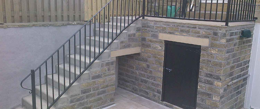 Image showing new concrete steps for building maintenance work
