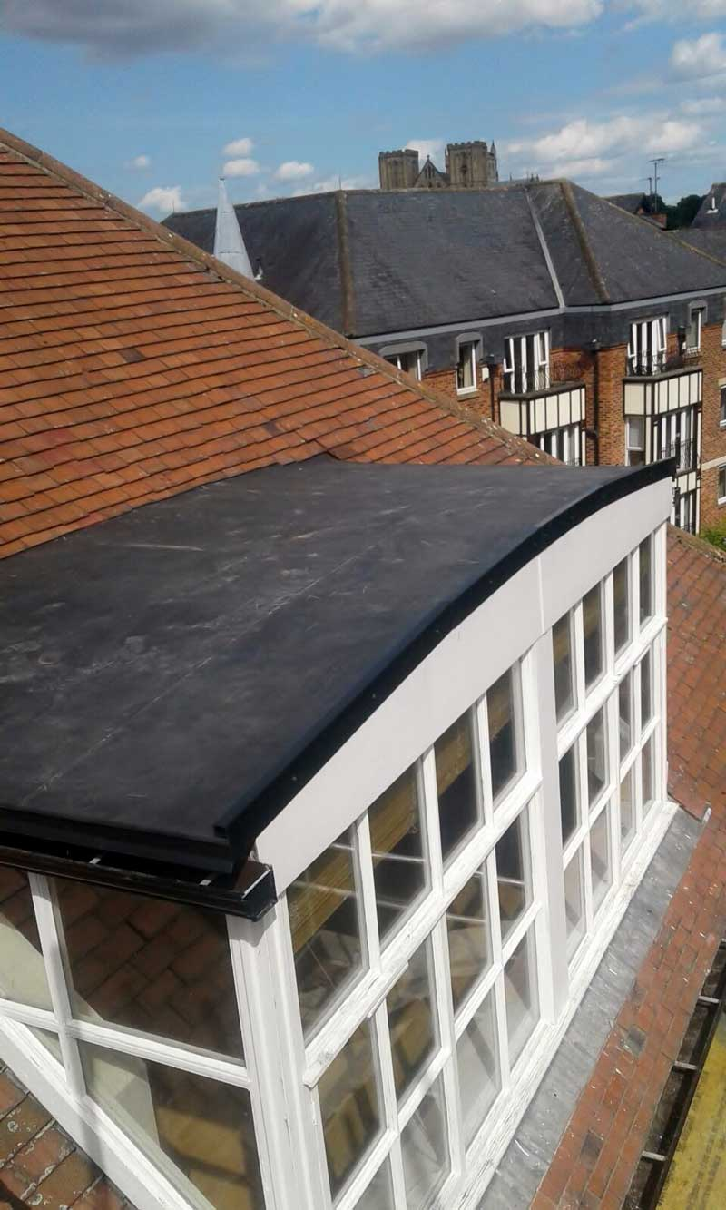 New Rubber Flat Roof Ripon Williamson House By Crown