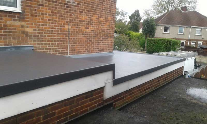 image of two tier rubber flat roof in wyke, bradford