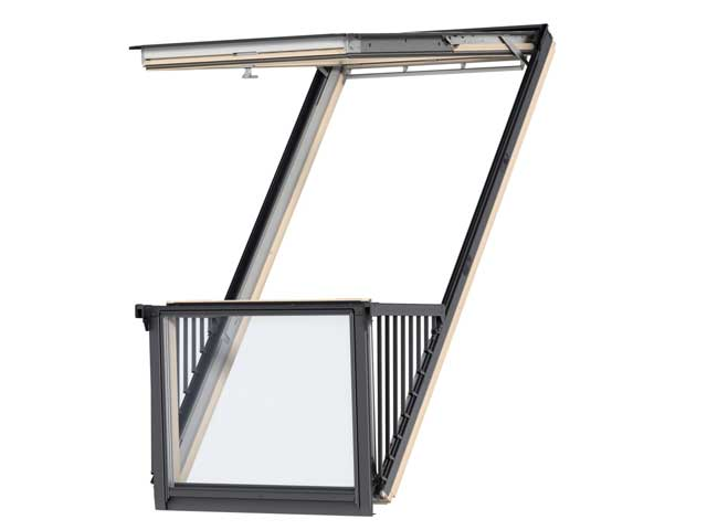 image of VELUX CABRIO balcony GDL clear laquer