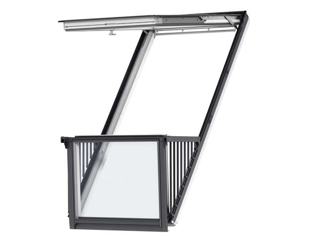 image of VELUX CABRIO balcony GDL white painted