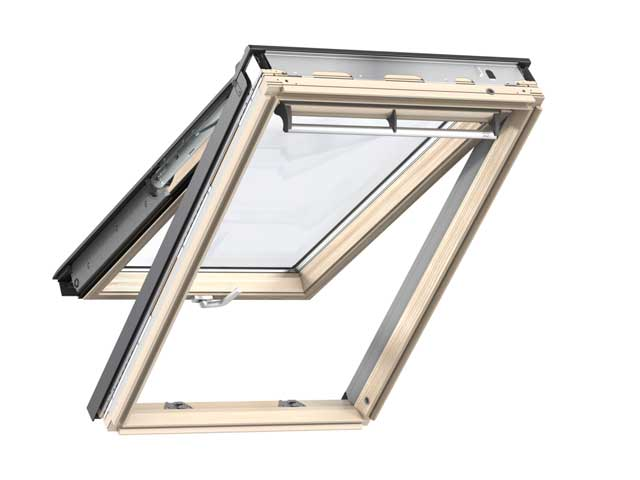 image of VELUX roof window top hung GPL clear laquer