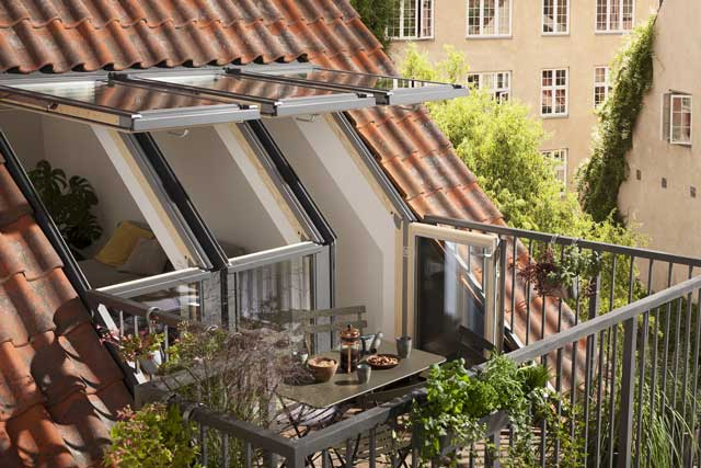 image of velux roof terrace GEL installation.