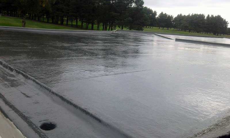 image of new rubber flat roof on west end golf club halifax